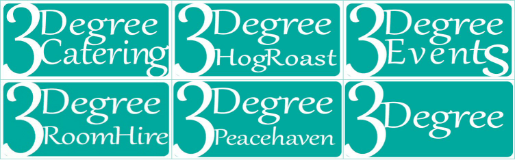 3Degree Catering and Events Retina Logo
